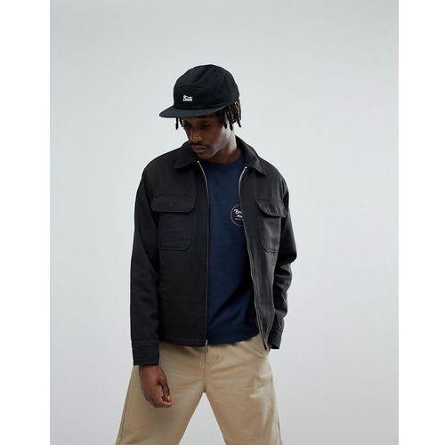 centro workwear jacket with plaid lining - black marki Brixton