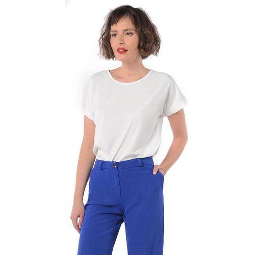 6df67eb222c636 koszulka damska l biały, Rita koss 159,00 zł Koszulka od marki Rita Koss z  niedługim rękawem, znakomicie stanie na wysokości zadania w trakcie  codziennego ...