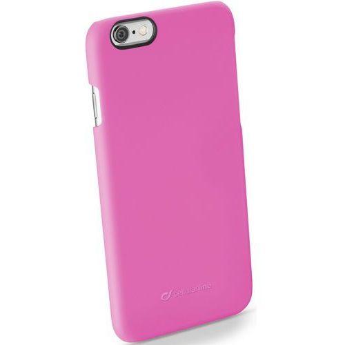 Etui CELLULAR LINE Rigid Satin do Apple iPhone 6/6S Różowy (8018080251542)