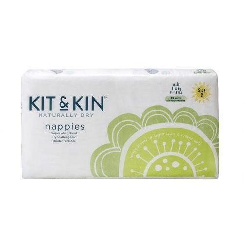 Kit and Kin Biodegradowalne Pieluszki Jednorazowe Midi (5-8kg) Mix Wzorów 40szt (5060479850013)
