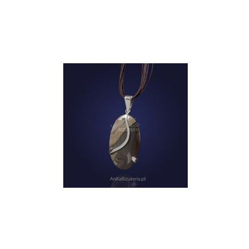Wisiorek z krzemienia pasiastego - srebrny ze sklepu AnKa Biżuteria