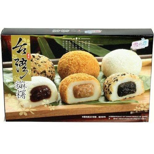 Awon Mochi, ryżowe kuleczki mix z nadzieniem sezamowym, orzechowym, azuki 450g -