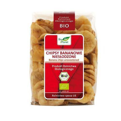 : chipsy bananowe niesłodzone bio - 150 g marki Bio planet
