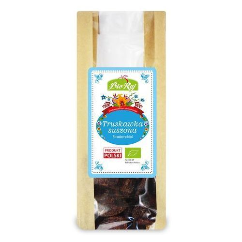 Truskawka suszona bio 50 g - bio raj marki Bio raj (konfekcjonowane)