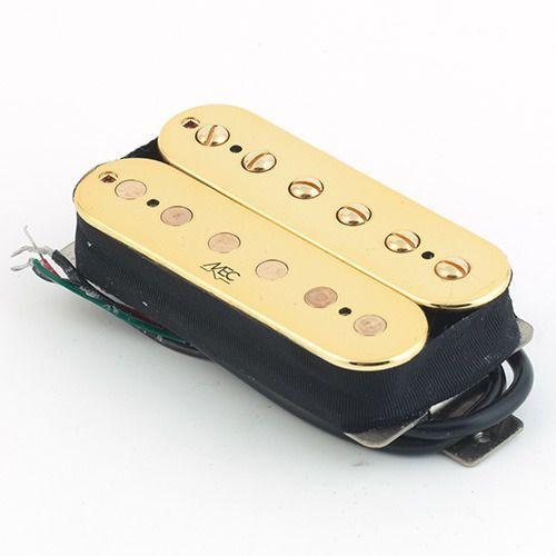 vintage neck ii humbucker, open bobbin, przetwornik do gitary typu humbucker do montażu przy gryfie, złoty marki Mec