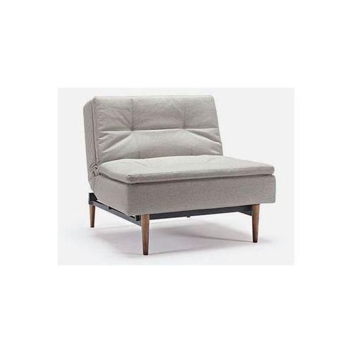 Fotel Dublexo beżowy 527 nogi ciemne drewno  741051527-741009-3-2, marki INNOVATION iStyle do zakupu w sfmeble.pl