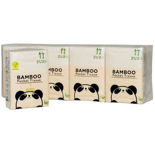 Kieszonkowe chusteczki higieniczne z bambusa 4-warstwowe 8-pak