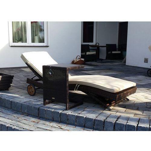 COMO kpl. Leżak ze stolikiem leżanka ogrodowa beasenowa meble ogrodowe z technorattanu zestaw NR87, 1001mebli z 1001mebli.pl Sklep Meblowy