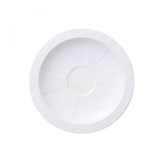 - white pearl spodek do filiżanki do kawy/herbaty średnica: 16 cm marki Villeroy & boch