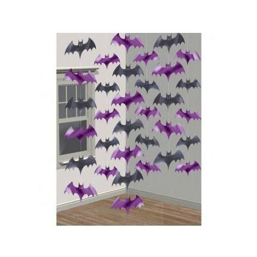 """Dekoracja wisząca halloween - """"nietoperze""""- 2,1 m - 6 szt. marki Amscan"""