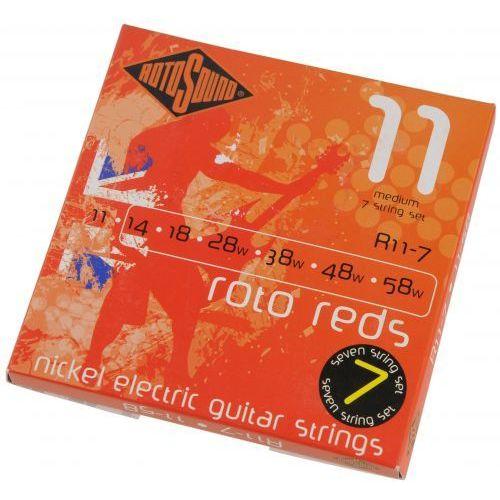 r11-7 roto 7 struny do gitary elektrycznej siedmiostrunowej 11-58 marki Rotosound
