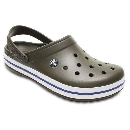 Crocs Buty klapki crocband 11016 dark camo - brązowy