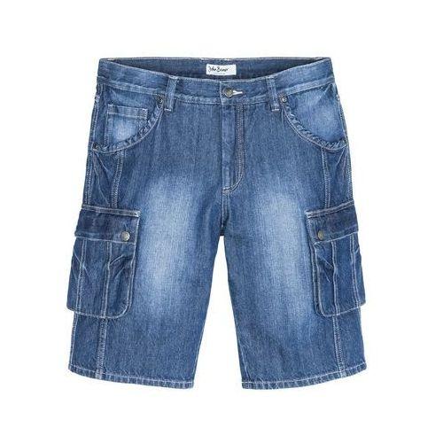 "Bermudy bojówki regular fit niebieski ""used, Bonprix"
