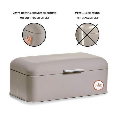 Metalowy chlebak rubber, pojemnik na pieczywo, 43x23x17 cm marki Zeller