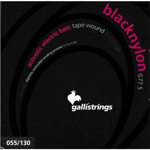 Galli g775 blacknylon - struny do gitary basowej