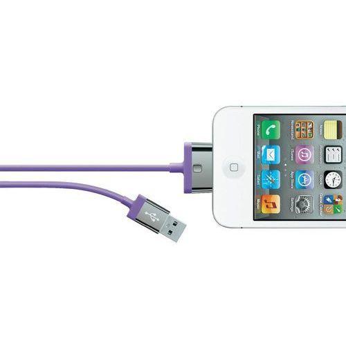 Kabel usb 2.0,  f8j041cw2m-pur, do ipoda, iphone'a, ipada, 2 m, fioletowy wyprodukowany przez Belkin