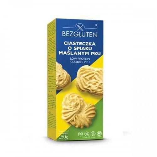 Bezgluten s.c. (produkty bezglutenowe) Ciasteczka o smaku maślanym niskobiałkowe pku 150g bezglutenowe bezgluten
