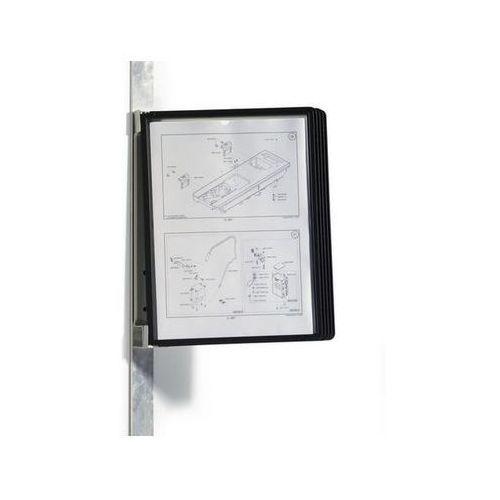 DURABLE Zestaw prezentacyjny ścienny VARIO MAGNET zestaw z 5 panelami A4, czarny