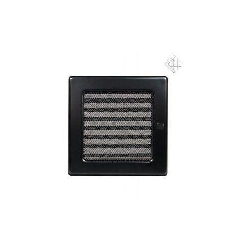 Kratka kominkowa malowana czarna 17x17 z żaluzją, 6674-898A9_20130202095803