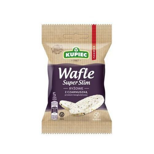 Wafle ryżowe z czarnuszką super slim 20 g marki Kupiec