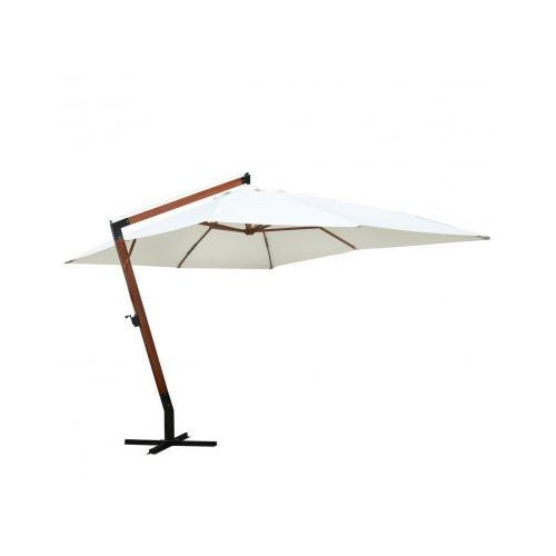 Parasol ogrodowy, 300x400cm, biały, vidaXL