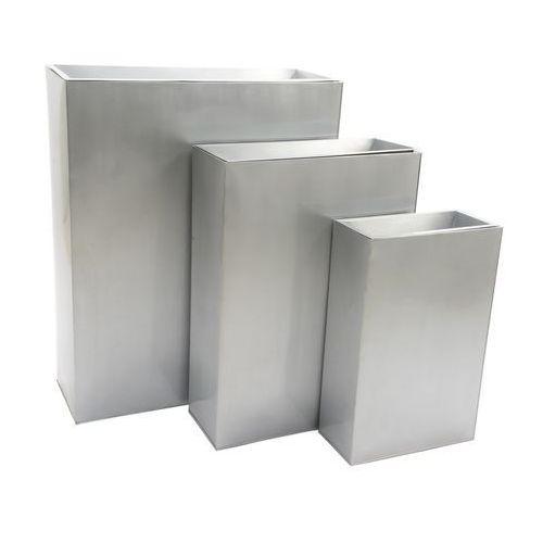 Metalowa donica ścianka szara wysokość 77 cm 849405-2 - oferta [1597d9a22f335593]