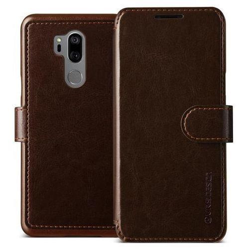 Etui portfel VRS Design Layered Dandy do LG G7 ThinQ Brązowy, kolor brązowy