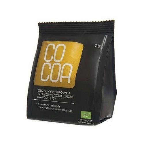 70g orzechy nerkowca w surowej czekoladzie kawowej marki Cocoa