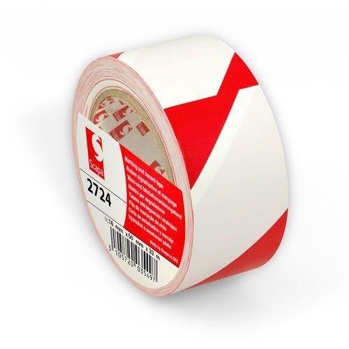 Scapa Taśma ostrzegawcza 2724 - biało - czerwona