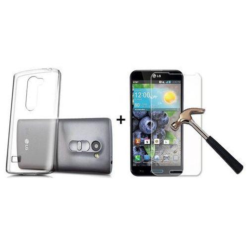 Zestaw | Obudowa Ultra Slim Przezroczysta + Szkło hartowane Perfect Glass | LG Leon