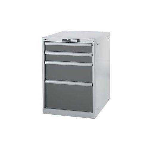 Stół warsztatowy w systemie modułowym, szafka dolna,wys. 800 mm, 4 szuflady marki Lista