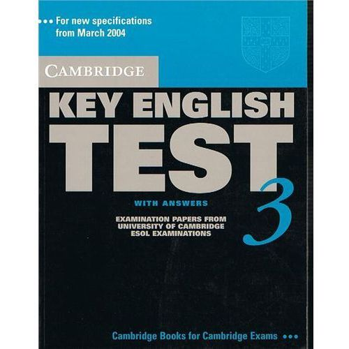 Cambridge Key English Test 3 Student&-8217;s Book with answers, Cambridge University Press
