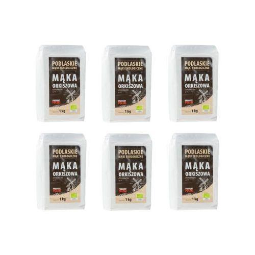 Podlaskie mąki ekologiczne Zestaw 6x mąka orkiszowa chlebowa typ 750 bio 1kg