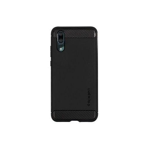 Huawei p20 - etui na telefon rugged armor - czarny marki Spigen