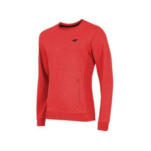 Bluza męska 4F BLM001 - czerwony melanż, poliester