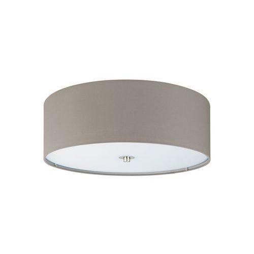 Plafon LAMPA sufitowa PASTERI 94919 Eglo okrągła OPRAWA abażurowa szarobrązowa, 94919