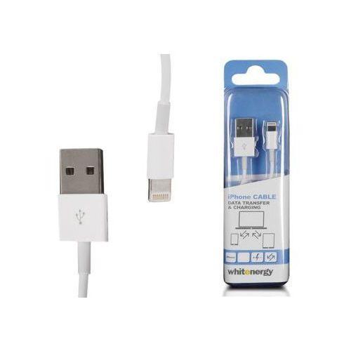 Whitenergy Kabel iPHONE USB Lightning 200 cm biały DARMOWA DOSTAWA DO 400 SALONÓW !! - produkt z kategorii- Kable, taśmy i przejściówki