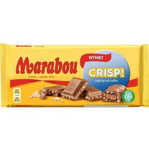 Marabou CRISP - 185g - szwedzka czekolada mleczna z kawałkami ryżu dmuchanego (7622210925350)