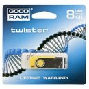 Produkt z kategorii- pendrive - GOODDRIVE FLASHDRIVE 8192MB USB 2.0 Twister Yellow