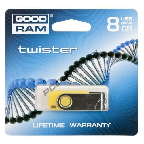Produkt GOODDRIVE FLASHDRIVE 8192MB USB 2.0 Twister Yellow