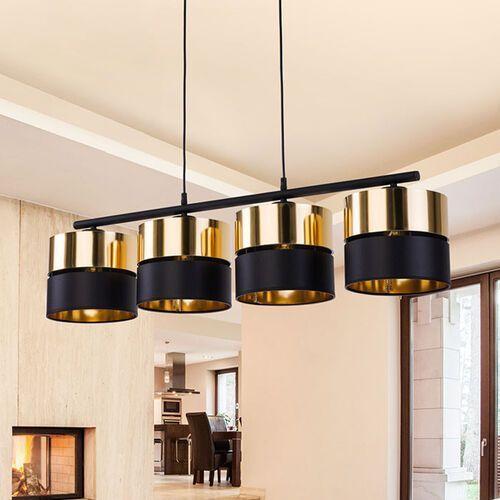 Tklighting Tk lighting hilton 4342 lampa wisząca zwis 4x60w e27 czarny/złoty (5901780543426)