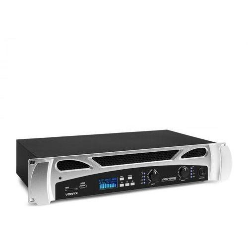 Vonyx vpa1000, wzmacniacz nagłośnieniowy, 2 x 500 w, funkcja bluetooth, odtwarzacz multimedialny, led, usb, sd (8715693310733)