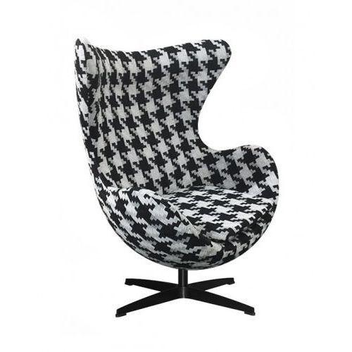 Fotel Jajo pepitka duża insp. proj. Egg Chair - podstawa czarna (5900000031583)