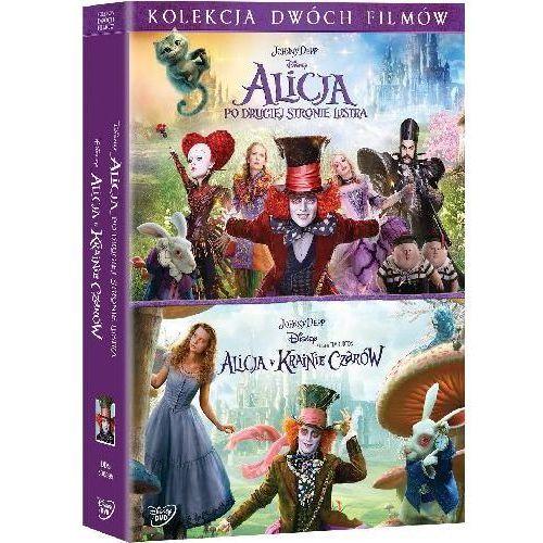 Pakiet: Alicja Po Drugiej Stronie Lustra / Alicja w Krainie Czarów (DVD) - James Bobin, Tim Burton DARMOWA DOSTAWA KIOSK RUCHU