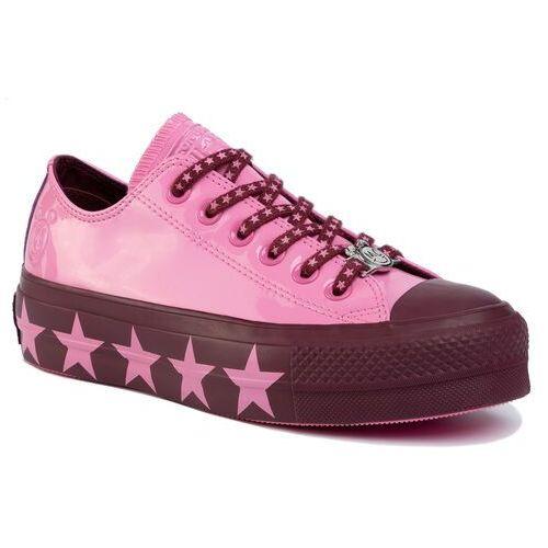 Trampki - ctas lift ox 563718c pink/dark burgundy/pink marki Converse