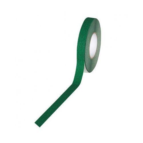 Taśma antypoślizgowa - drobne ziarno 25 mm x 18,3 m, zielona