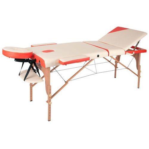 Insportline Łóżko stół do masażu japane, biało-pomarańczowy (8595153694098)