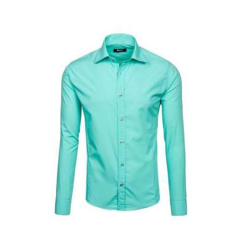 Koszula męska elegancka z długim rękawem jasnozielona Bolf 1703-2, 1 rozmiar