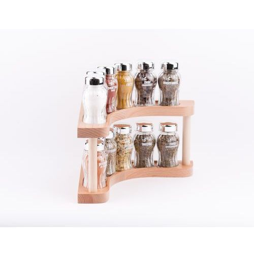 półka z przyprawami rogowa 12-el. jasne drewno połysk 5901832922469 marki Gald