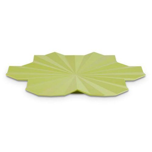 Półmisek dekoracyjny z melaminy w kształcie liścia o średnicy 465 mm, zielony | APS, Lotus